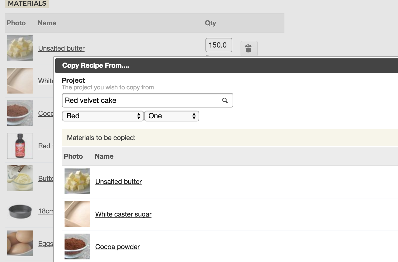 New: Copy Recipes from your Variations