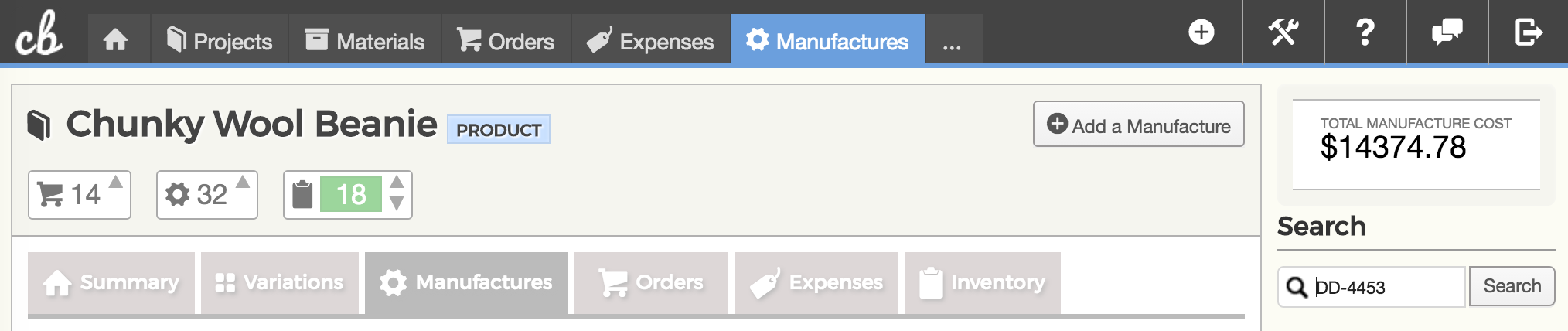 Add Manufacture button on your Manufactures list page