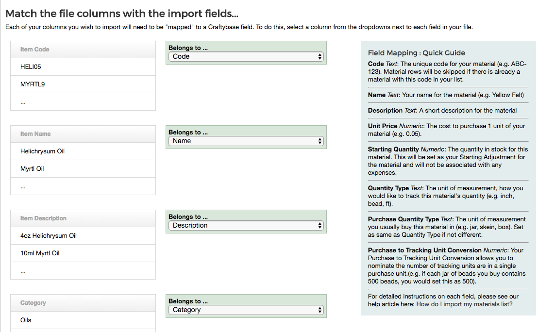 Upload Materials with our new Excel Importer!