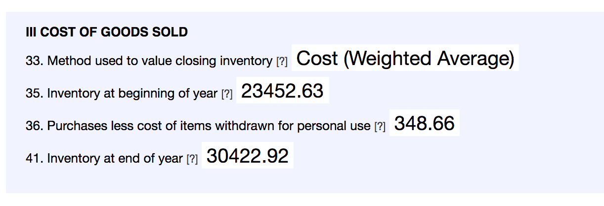 How Craftybase calculates your schedule C inventory values