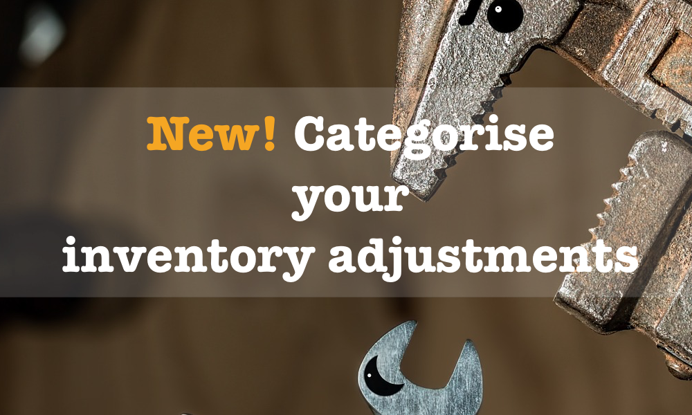 New! Categorise your inventory adjustments