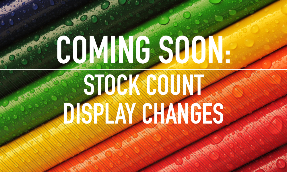 Coming Soon: Stock Display Changes